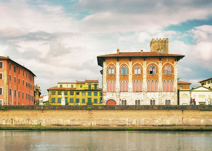 River Greeting Card featuring the photograph Pisa Italy by Peter Horvath