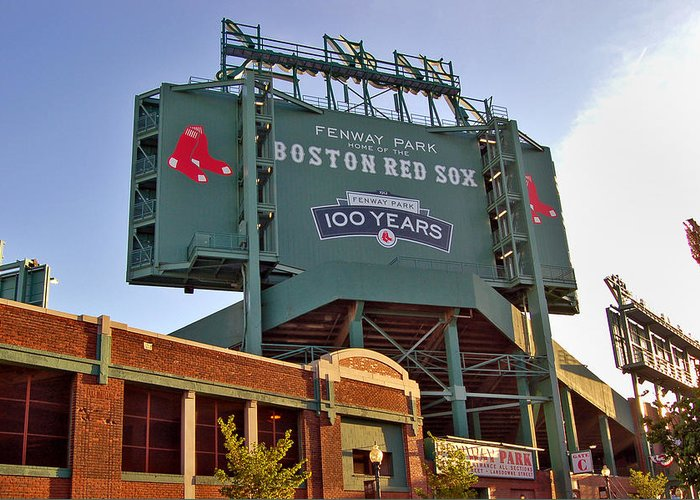 Fenway Park Greeting Card featuring the photograph 100 Years At Fenway by Joann Vitali