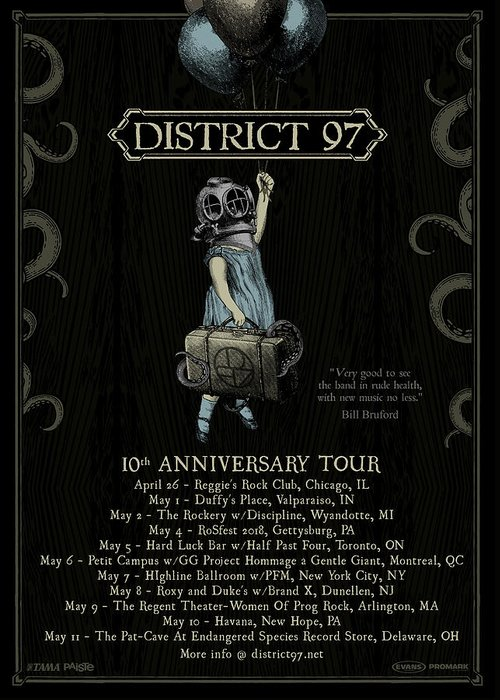Greeting Card featuring the digital art 10th Anniversary Tour by District 97