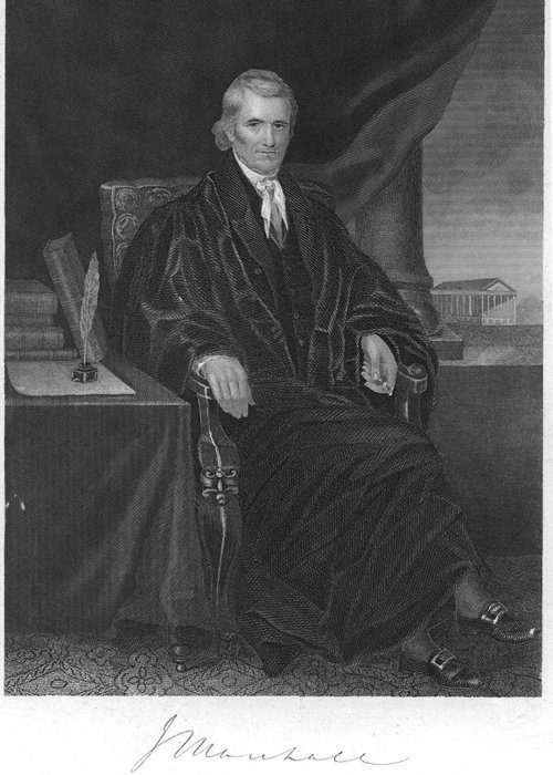 1863 Greeting Card featuring the photograph John Marshall (1755-1835) by Granger