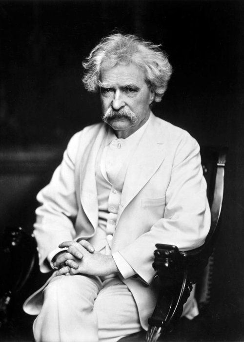 1900 Greeting Card featuring the photograph Samuel Langhorne Clemens by Granger