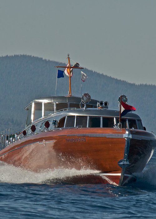 Lake Tahoe Greeting Card featuring the photograph Boat Show Special by Steven Lapkin