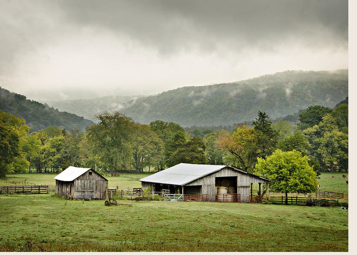 Barn Greeting Card featuring the photograph 1209-1116 - Boxley Valley Barn by Randy Forrester
