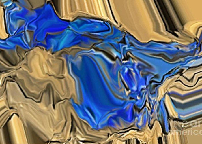Abstract Greeting Card featuring the digital art 1297exp6 by Ron Bissett