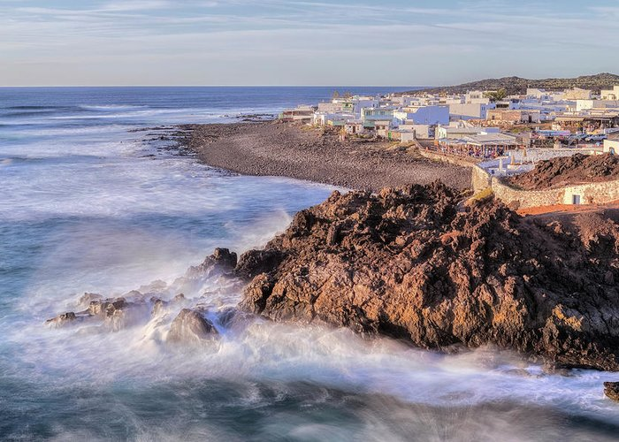 El Golfo Greeting Card featuring the photograph El Golfo - Lanzarote by Joana Kruse