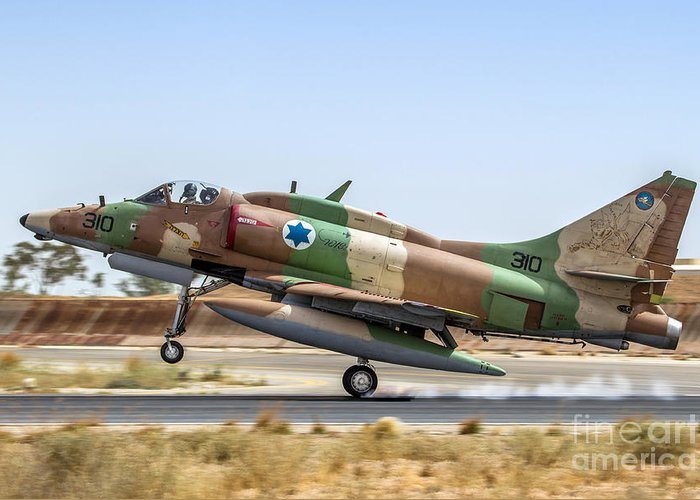 A 4 Skyhawk For Sale >> Israel Air Force A 4 Skyhawk 13 Greeting Card