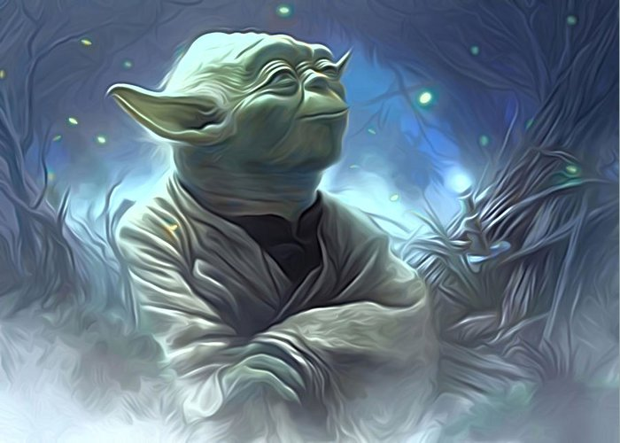Star Wars Greeting Card featuring the digital art Star Wars Heroes Poster by Larry Jones