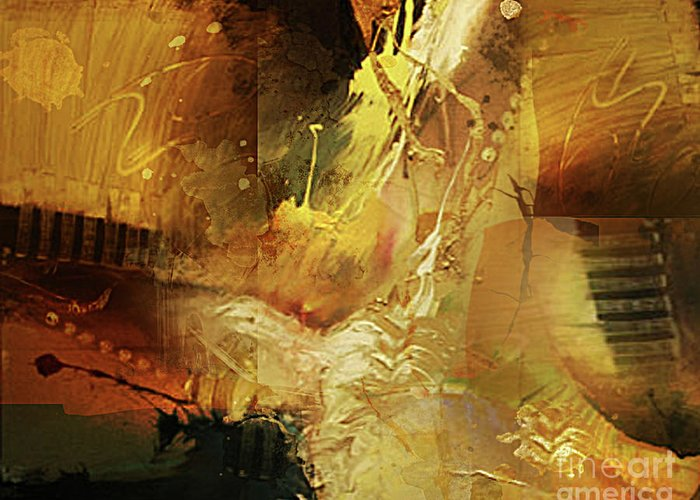 Abstract Greeting Card featuring the painting Untitled by Angelina Cornidez