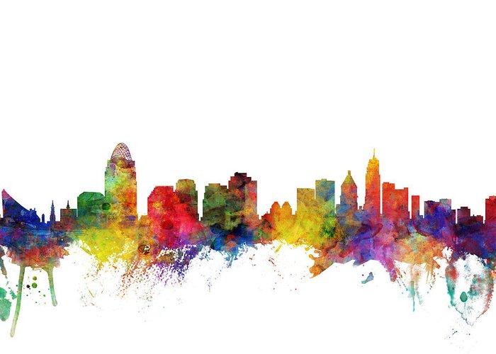 Cincinnati Skyline Greeting Cards