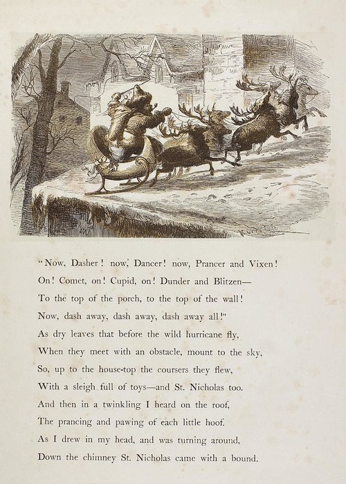 1862 Greeting Card featuring the photograph Night Before Christmas by Granger