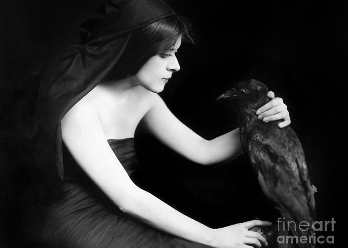 -nec02- Greeting Card featuring the photograph Theda Bara (1885-1955) by Granger