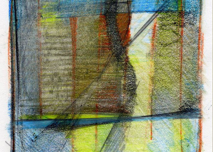 Abstract Greeting Card featuring the drawing Rcnpaintings.com by Chris N Rohrbach