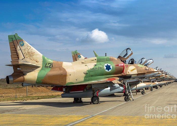 A 4 Skyhawk For Sale >> Israel Air Force A 4 Skyhawk 15 Greeting Card