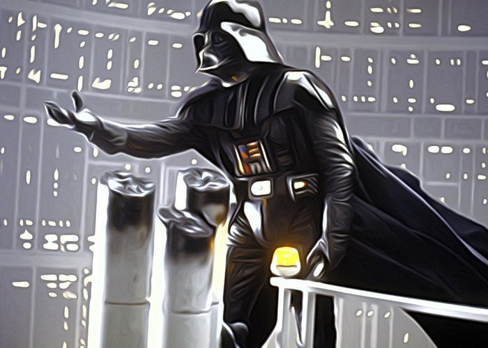 Star Wars Greeting Card featuring the digital art Star Wars The Poster by Larry Jones
