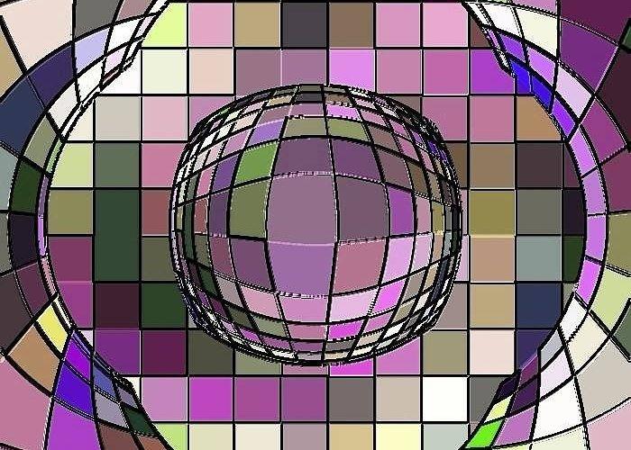 Digital Software Art Greeting Card featuring the painting Digital Software Art by Dr Liew