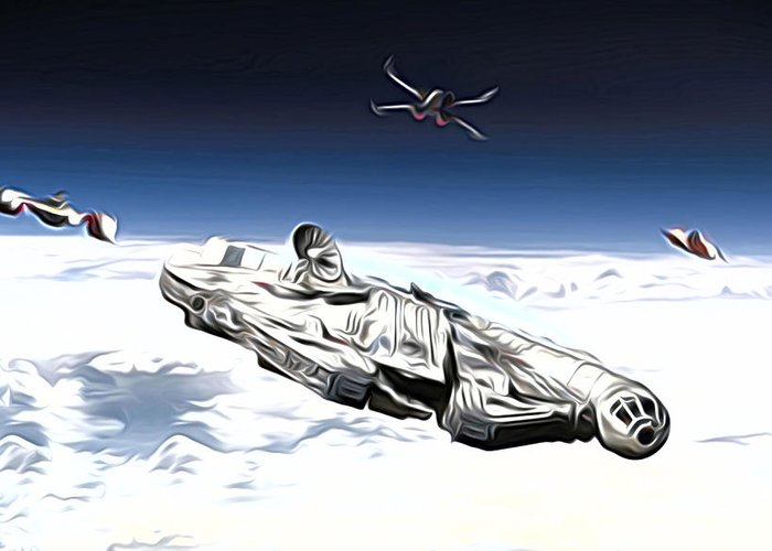 Star Wars Greeting Card featuring the digital art New Star Wars Poster by Larry Jones