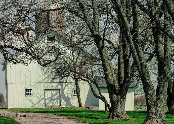 Barn Greeting Card featuring the photograph 168 Marshfield Farm by Dennis R Bean