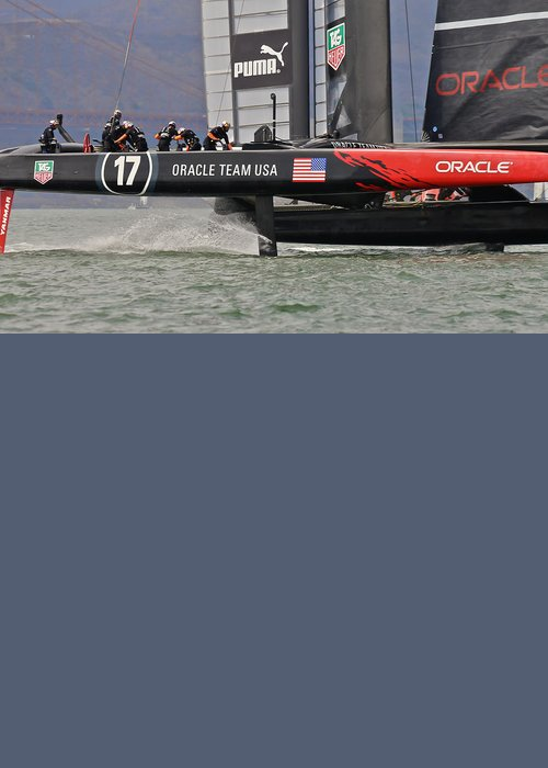 America Greeting Card featuring the photograph America's Cup San Francisco by Steven Lapkin