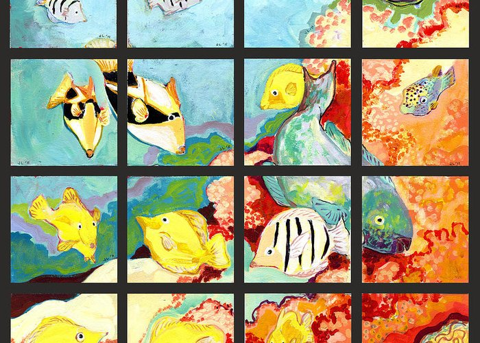 Triggerfish Paintings Greeting Cards