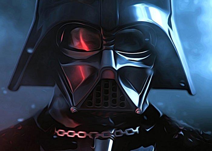 Star Wars 3 Greeting Card featuring the digital art Star Wars Episode 3 Art by Larry Jones