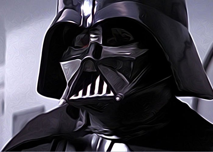 Star Wars Greeting Card featuring the digital art Star Wars Episode 5 Art by Larry Jones