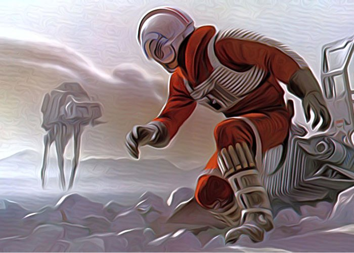 Star Wars Greeting Card featuring the digital art Star Wars Saga Art by Larry Jones