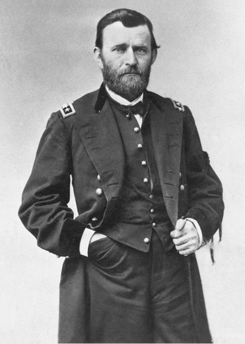 1860s Greeting Card featuring the photograph Ulysses S. Grant (1822-1885) by Granger