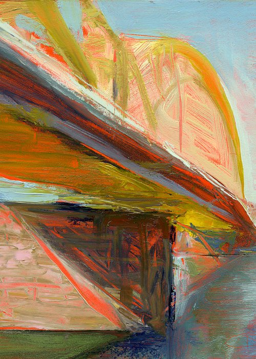 Bridges Greeting Card featuring the painting Rcnpaintings.com by Chris N Rohrbach