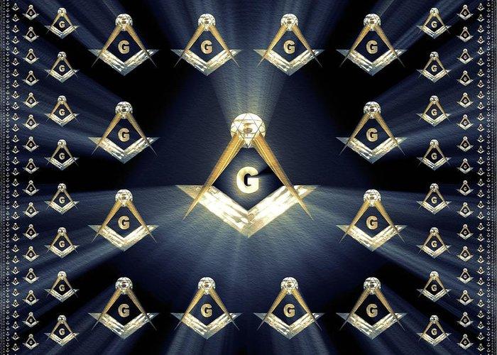Freemason Masonic Symbols Greeting Card For Sale By Pierre Blanchard