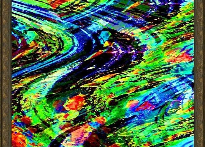 Software Abstract Greeting Card featuring the digital art Software Abstract by Liew Yu Shin