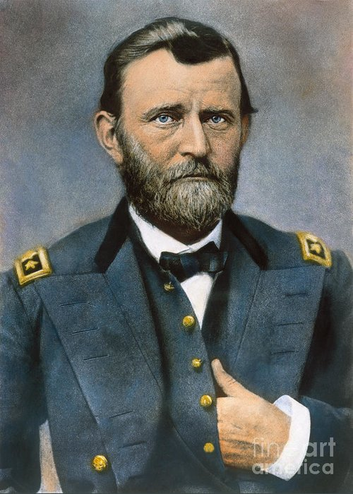 1864 Greeting Card featuring the photograph Ulysses S. Grant (1822-1885) by Granger
