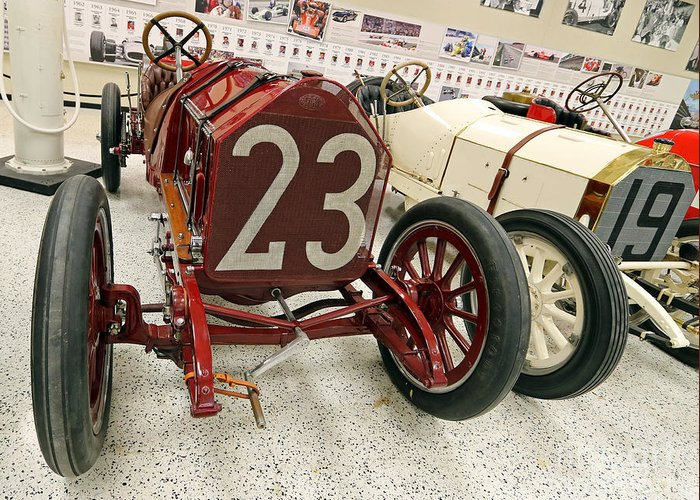Itala Greeting Card featuring the photograph 1907 Itala Gran Prix Race Car by Steve Gass
