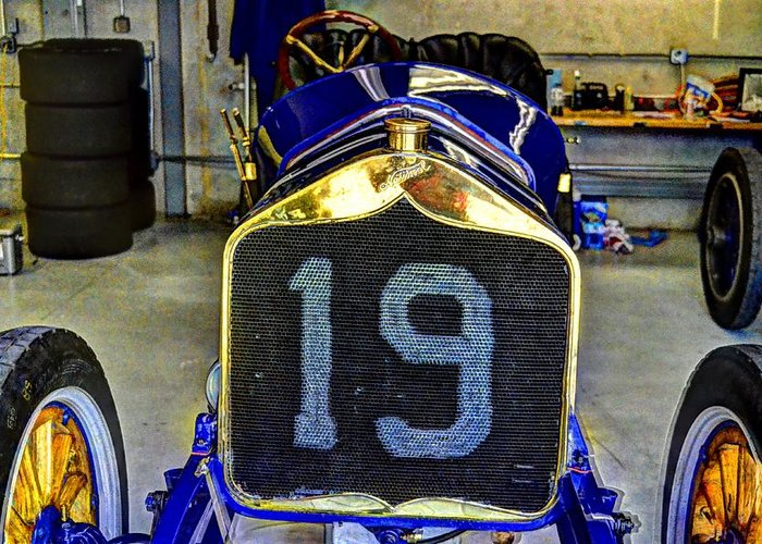 1911 National Speedway Roadster #19. Josh Williams Photography Greeting Card featuring the photograph 1911 National Speedway Roadster #19 by Josh Williams
