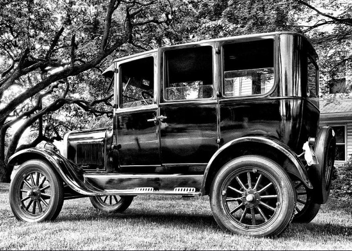 Ford Model T Greeting Card featuring the photograph 1926 Ford Model T by Bill Cannon
