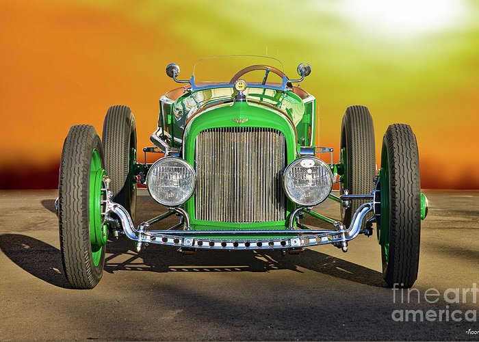 Auto Greeting Card featuring the photograph 1926 Ford Model T 'dry Lakes' Roadster Viii by Dave Koontz