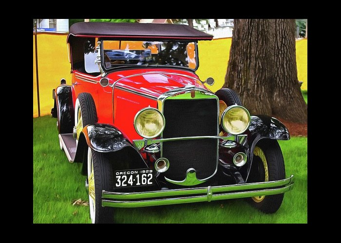 1929 Graham Paige 612 Greeting Card featuring the photograph 1929 Graham - Paige 612 by Thom Zehrfeld