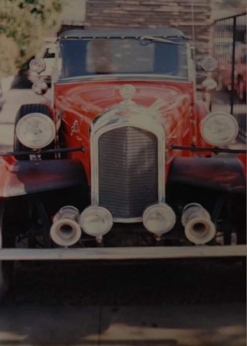 Car Greeting Card featuring the photograph 1932 by Rob Hans