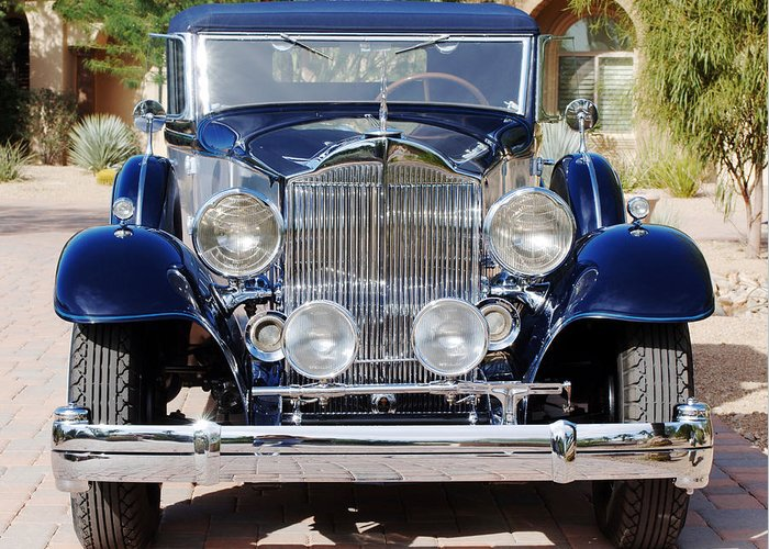 Car Greeting Card featuring the photograph 1933 Packard 12 Convertible Coupe by Jill Reger