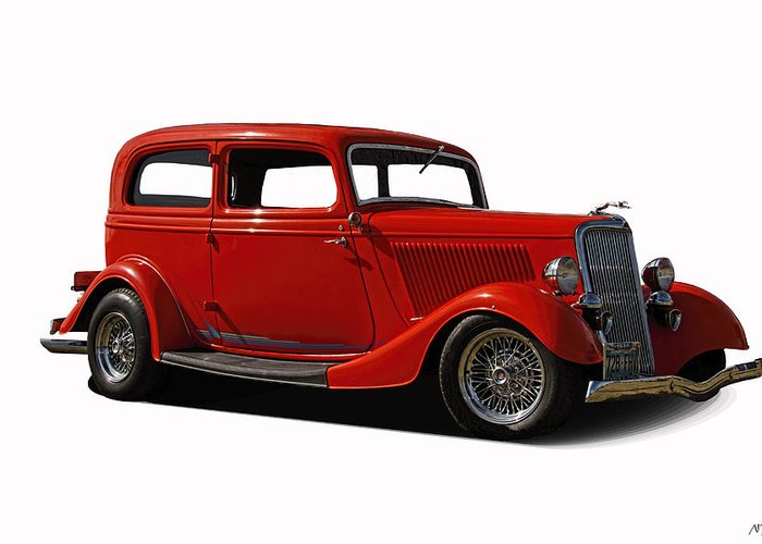 1934 Greeting Card featuring the photograph 1934 Ford 2 Door Sedan by Nick Gray