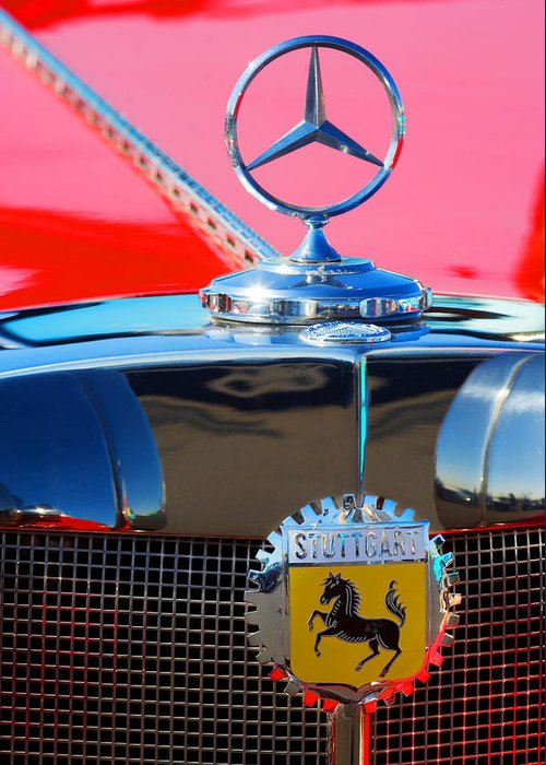 Transportation Greeting Card featuring the photograph 1934 Mercedes Benz 500 K Roadster by Jill Reger