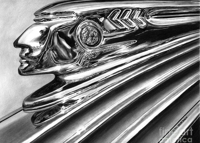 Vintage Hood Ornaments Drawings Greeting Cards