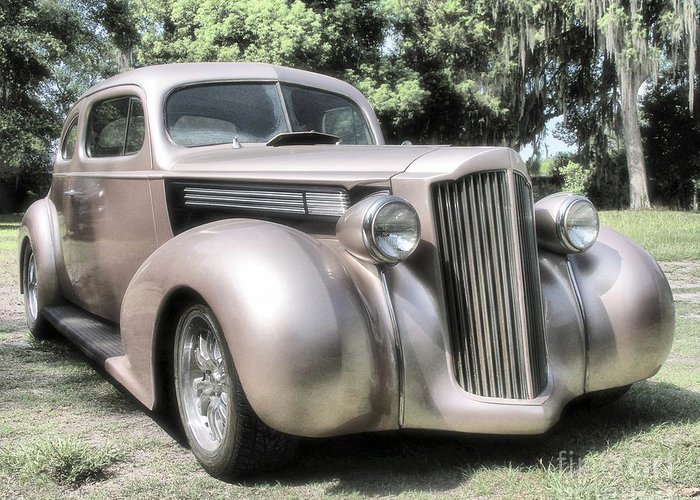 Classic Cars Greeting Card featuring the photograph 1939 Packard Coupe by Richard Rizzo