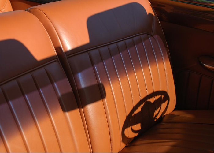 Car Greeting Card featuring the photograph 1950 Oldsmobile Rocket 88 Convertible Interior by Jill Reger