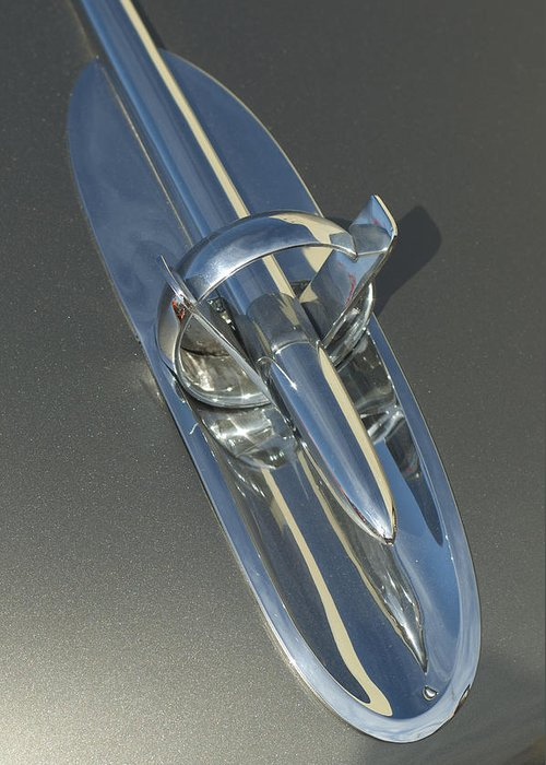 1953 Buick Greeting Card featuring the photograph 1953 Buick Hood Ornament by Jill Reger