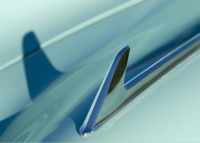 1954 Chevrolet Greeting Card featuring the photograph 1954 Chevrolet Hood Ornament 2 by Jill Reger