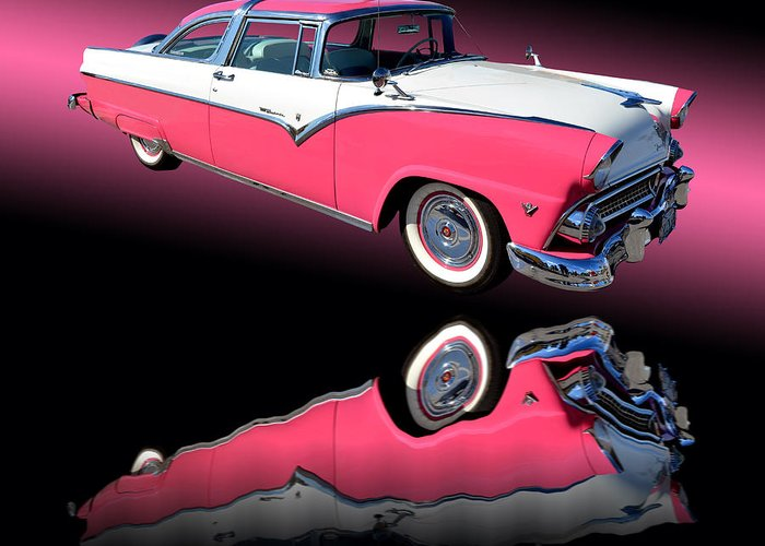 Car Greeting Card featuring the photograph 1955 Ford Fairlane Crown Victoria by Jim Carrell