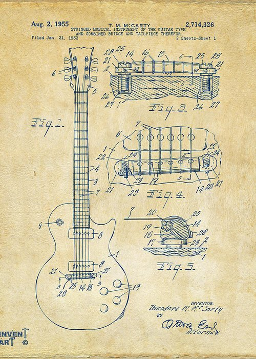Patent Drawing Drawings Greeting Cards