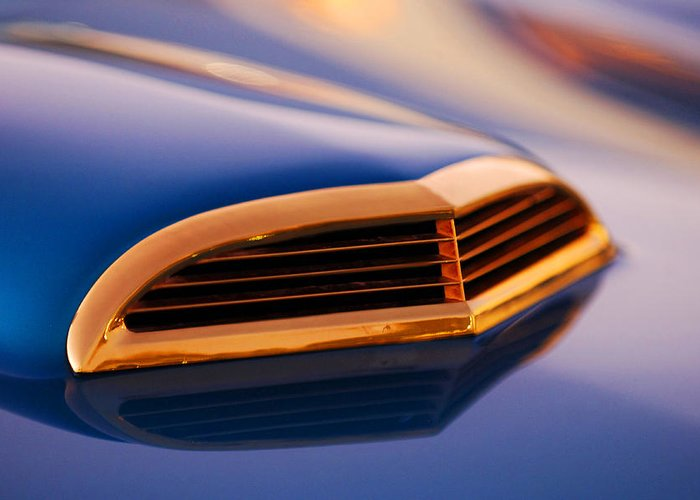 Classic Car Greeting Card featuring the photograph 1957 Ford Thunderbird Scoop by Jill Reger