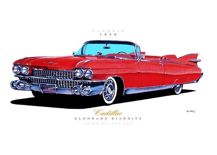 1959 Cadillac Eldorado Biarritz Greeting Card For Sale By Brian Roland