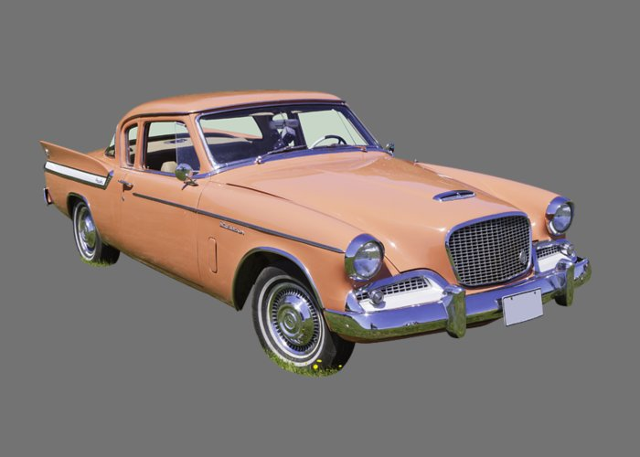 Vintage Greeting Card featuring the photograph 1961 Studebaker Hawk Coupe by Keith Webber Jr